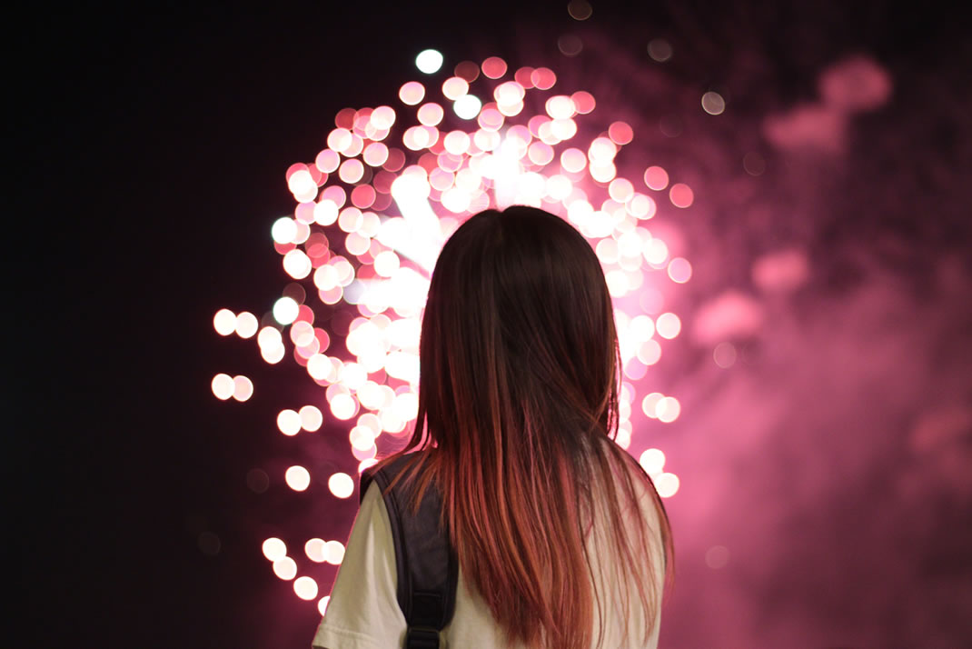 Fireworks and your eyes